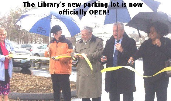New Library parking lot