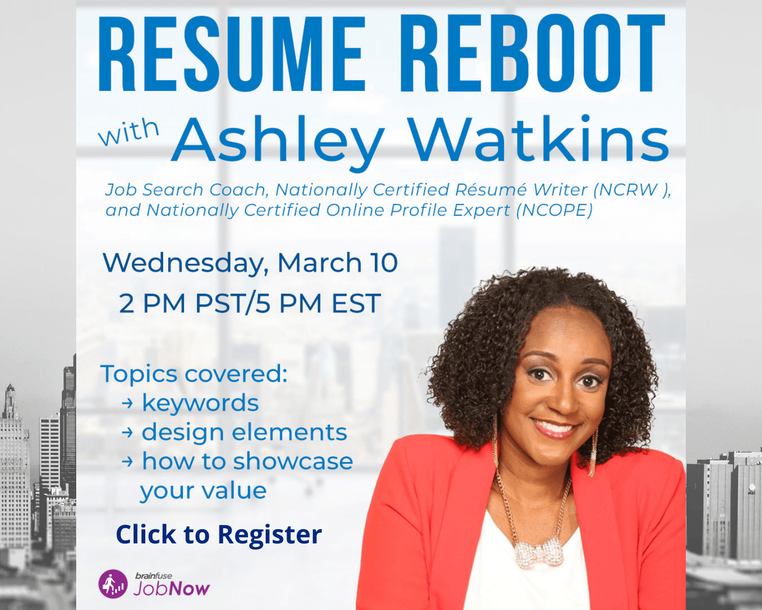Resume Reboot March 10 at 2pm via zoom